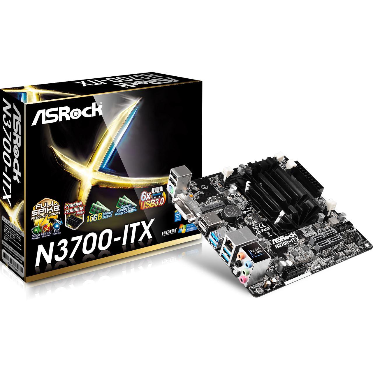 ASRock N3700-ITX SoC So BGA Dual Channel DDR3 Mini-ITX Retail