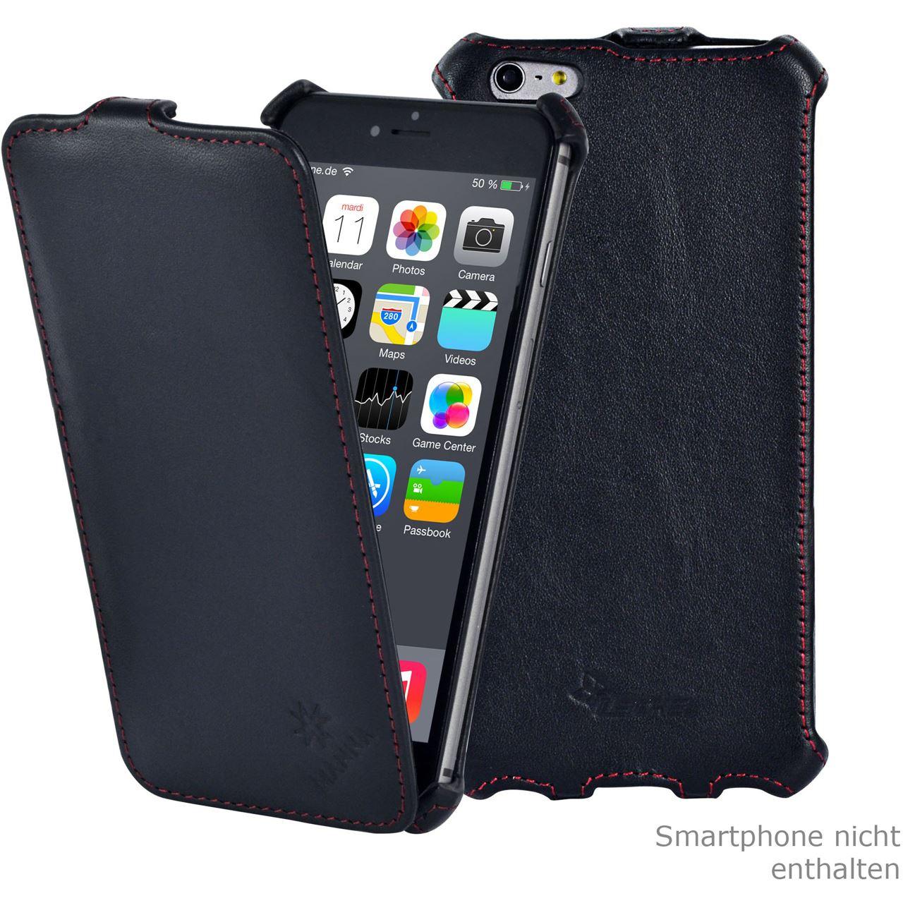 manna iphone 6 plus 5 5 zoll ultraslim h lle flip case handytaschen. Black Bedroom Furniture Sets. Home Design Ideas
