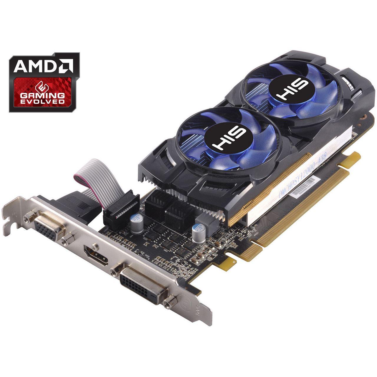 2GB HIS Radeon R7 250 iCooler Boost Clock Aktiv PCIe 3 0 x16 (Retail)
