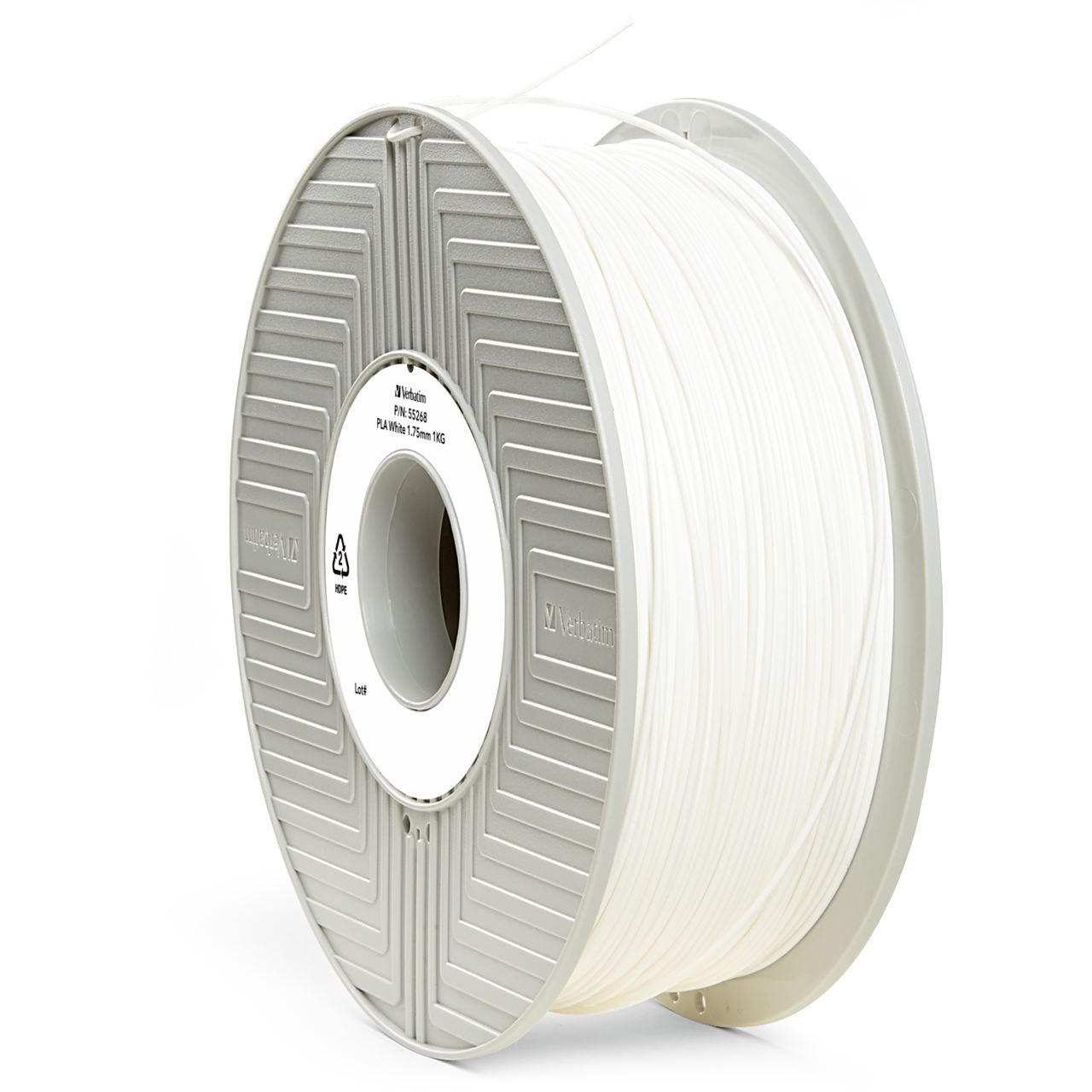 verbatim filament 3d drucker 1kg wei zubeh r f r 3d drucker. Black Bedroom Furniture Sets. Home Design Ideas