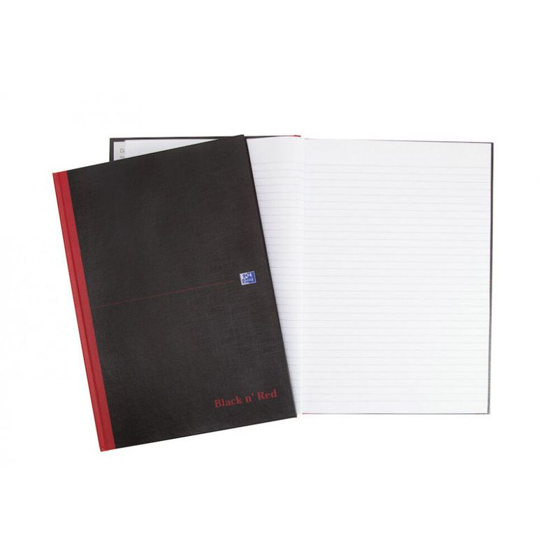 """Oxford Black n/"""" Red Notizbuch gebunden DIN A4 liniert"""