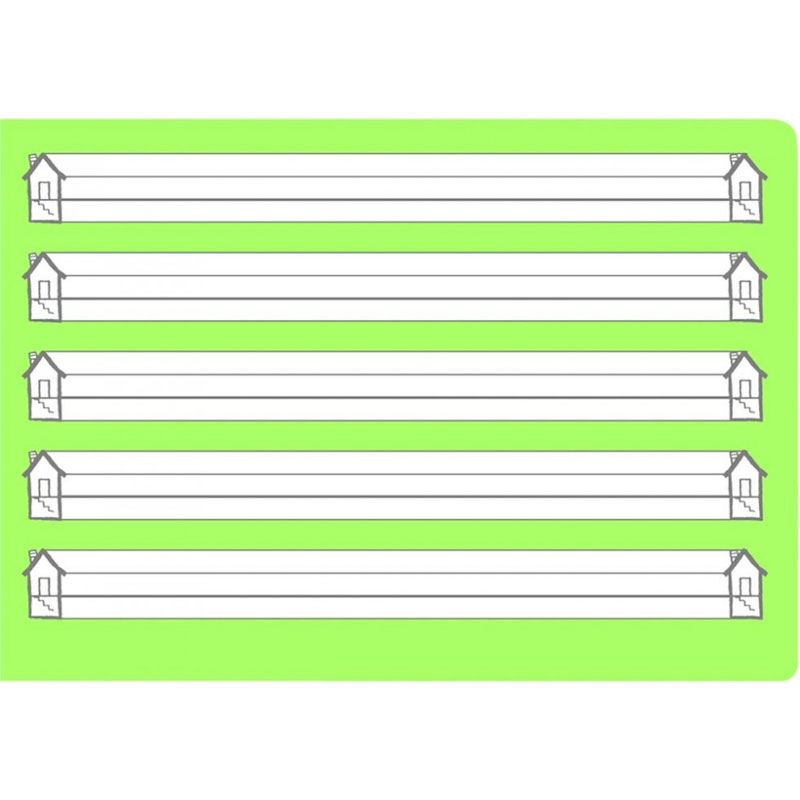 Oxford Schreiblernheft Lineatur 0 gr/ün A5 quer 16 Blatt