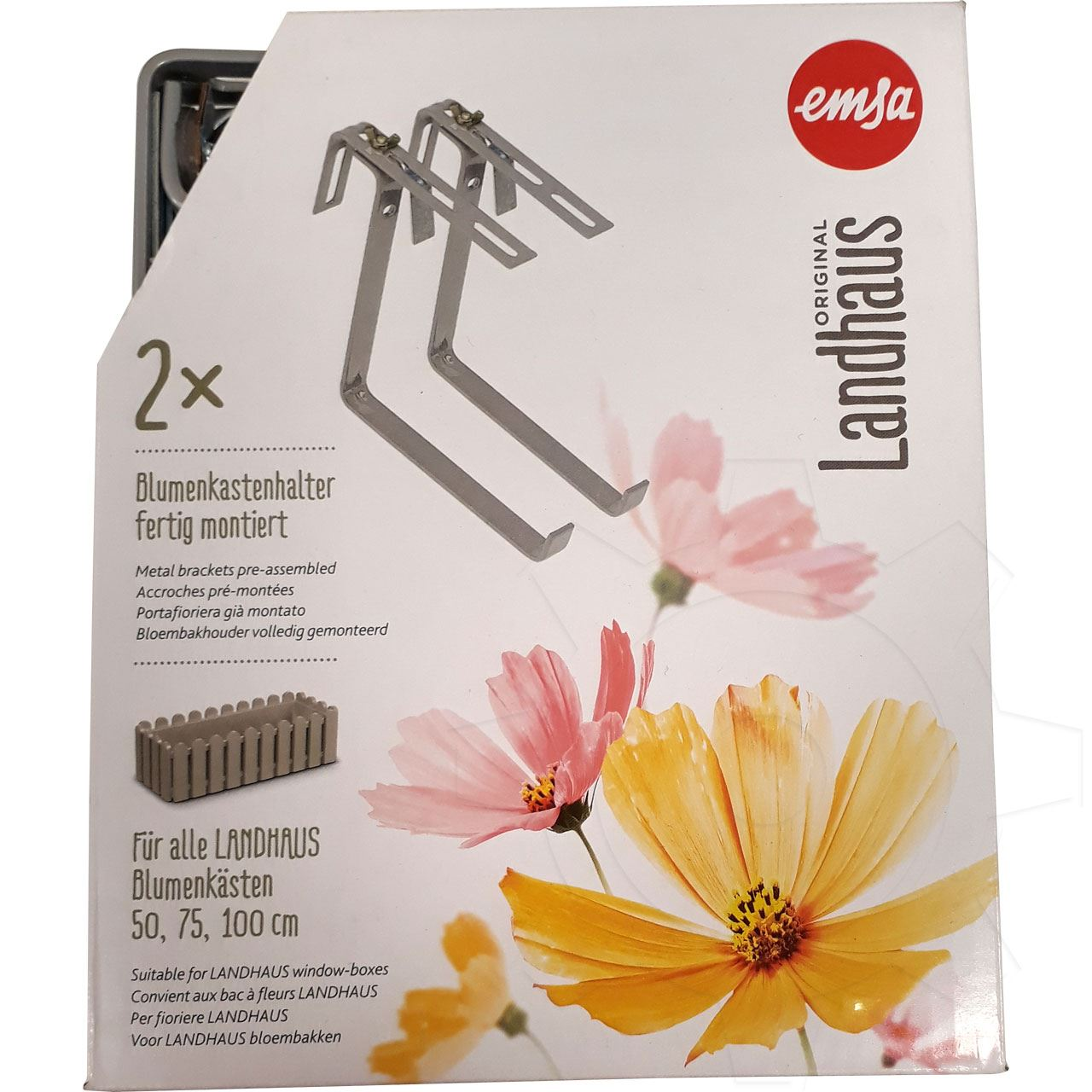 Emsa Vario Comfort Blumenkastenhalter Halterung für Blumenkasten Rundgeländer