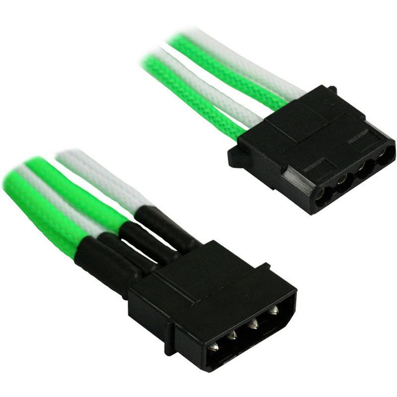 Nanoxia 4-Pin Molex Y-Kabel - 20 cm, grün/weiß - Zubehör für Modding ...