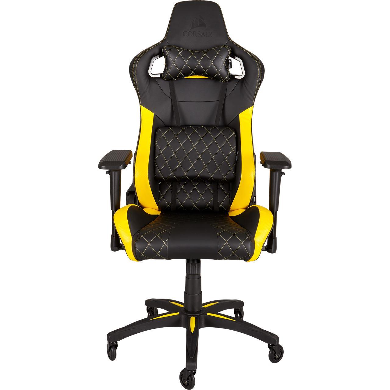 Corsair T1 Race Gaming Chair Schwarz Gelb Gaming Seats