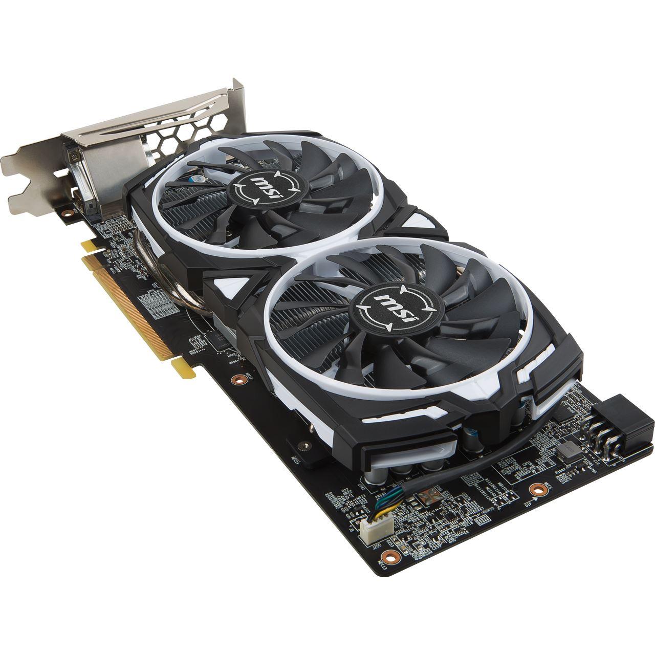 8GB MSI Radeon RX 580 Armor 8G OC Aktiv PCIe 3 0 x16 (Retail)