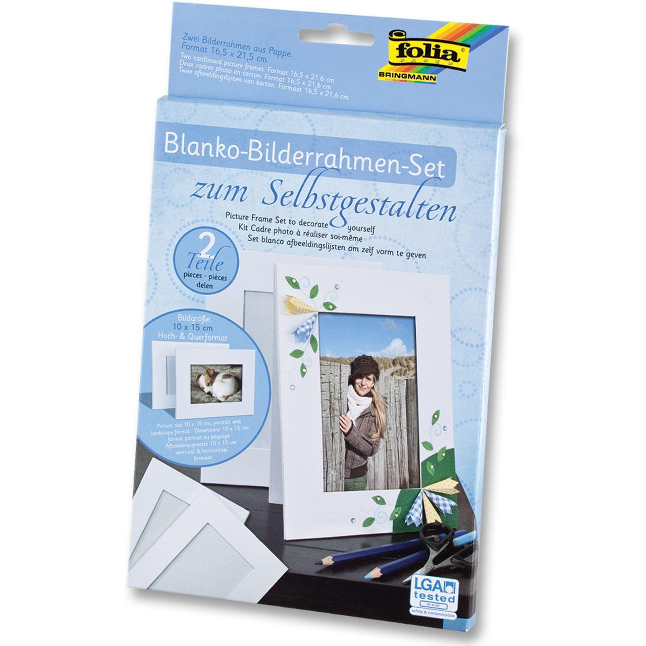 Folia Bilderrahmen-Set, aus Pappe, 10 x 15 cm, 2er-Pack weiß ...