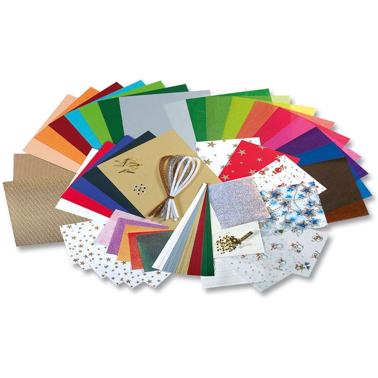 Bastelpapier Weihnachten.Folia Bastelpapier Koffer Weihnachten Ii 110 Teilig