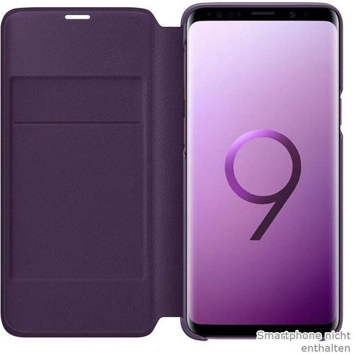samsung led view cover galaxy s9 lila handytaschen. Black Bedroom Furniture Sets. Home Design Ideas