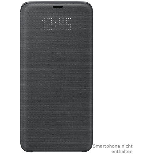 samsung led view cover galaxy s9 plus schwarz. Black Bedroom Furniture Sets. Home Design Ideas