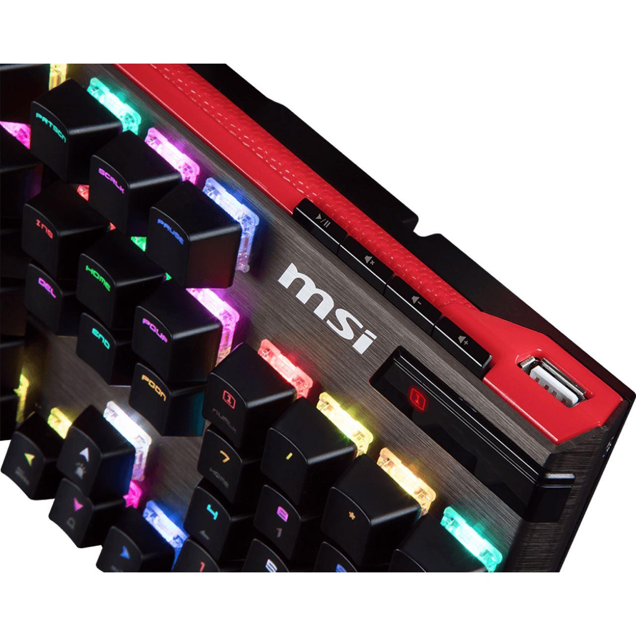 MSI VIGOR GK-80 CHERRY MX RGB Red USB Deutsch schwarz/rot ...