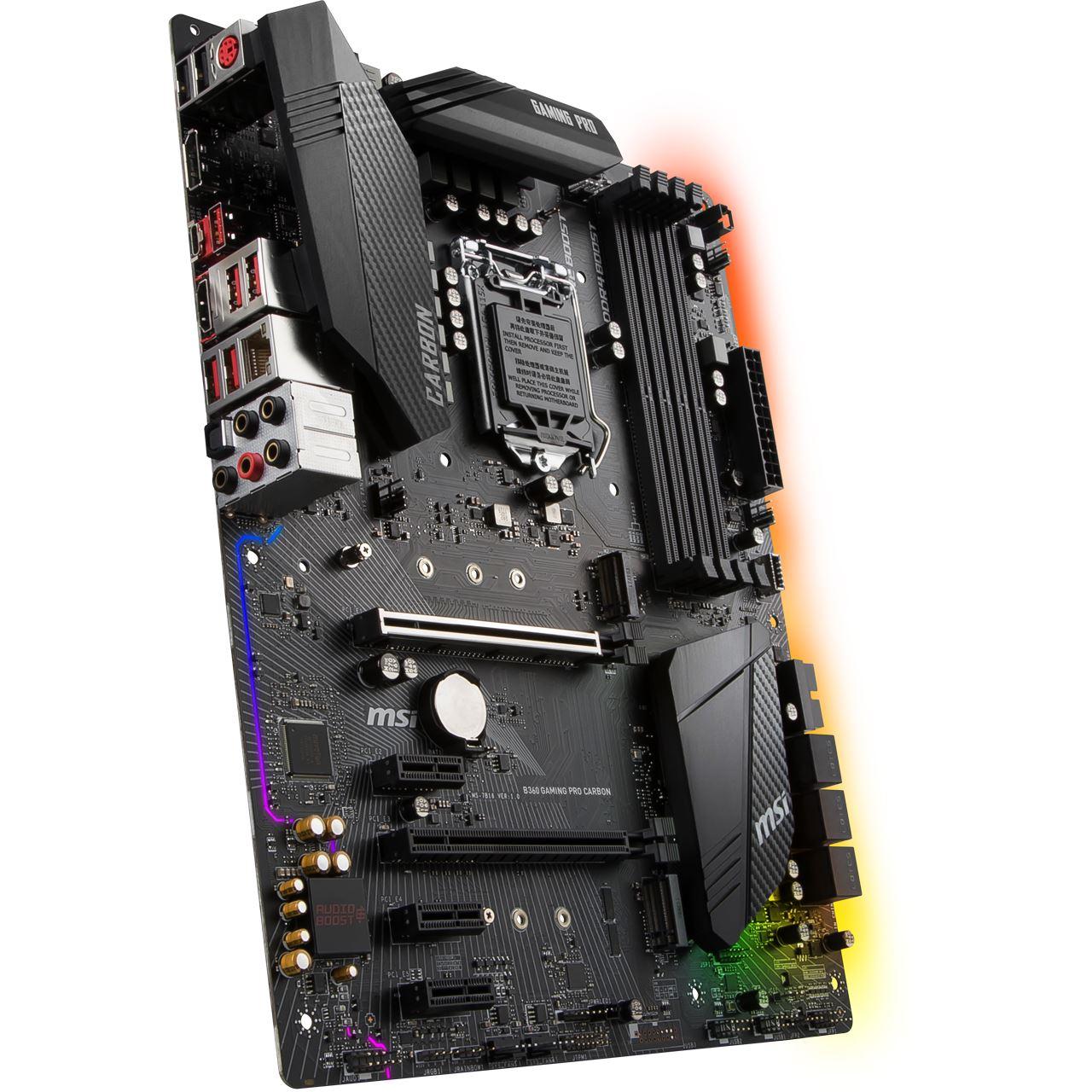 MSI B360 GAMING PRO CARBON Intel B360 So.1151 Dual Channel DDR4 ATX ...
