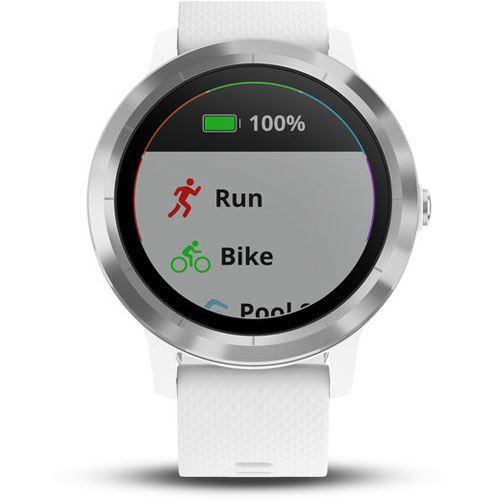 garmin vivoactive 3 gps smartwatch wei silber. Black Bedroom Furniture Sets. Home Design Ideas
