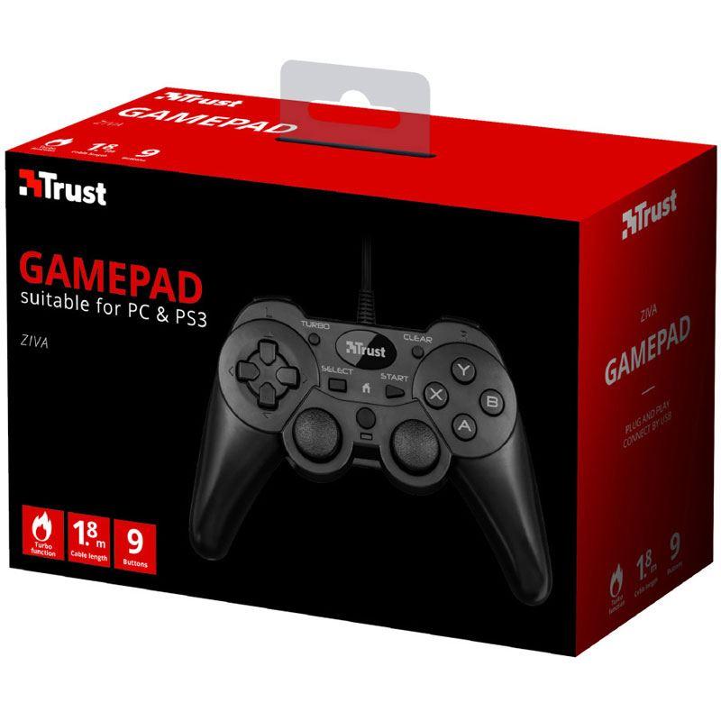 Trust Ziva Wired Gamepad Für Pc And Ps3 Gamepads Mindfactoryde