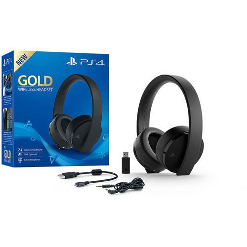 sony playstation 4 ps4 gold wireless headset headsets. Black Bedroom Furniture Sets. Home Design Ideas