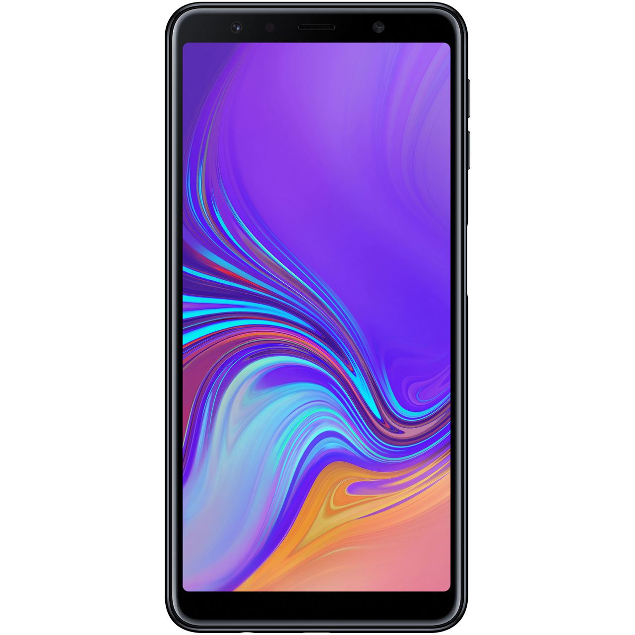 samsung galaxy a7 2018 64gb schwarz smartphones ohne. Black Bedroom Furniture Sets. Home Design Ideas