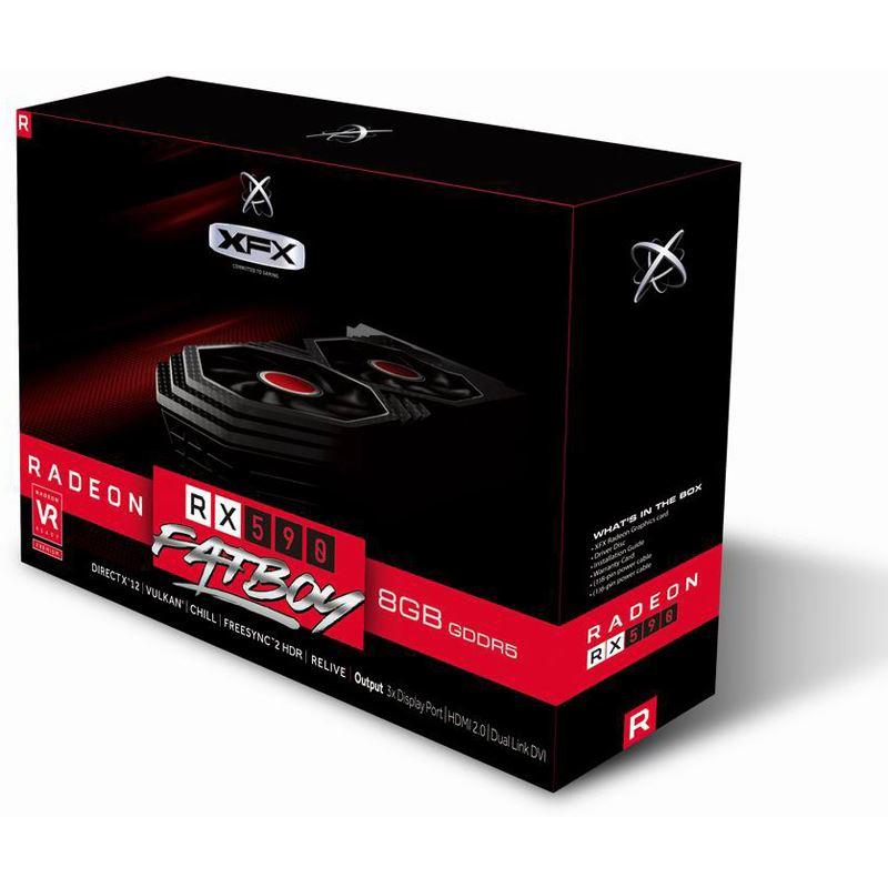 XFX Radeon RX 590 Fatboy 1580MHz 8gb 256bit GDDR5 RX-590P8DFD6