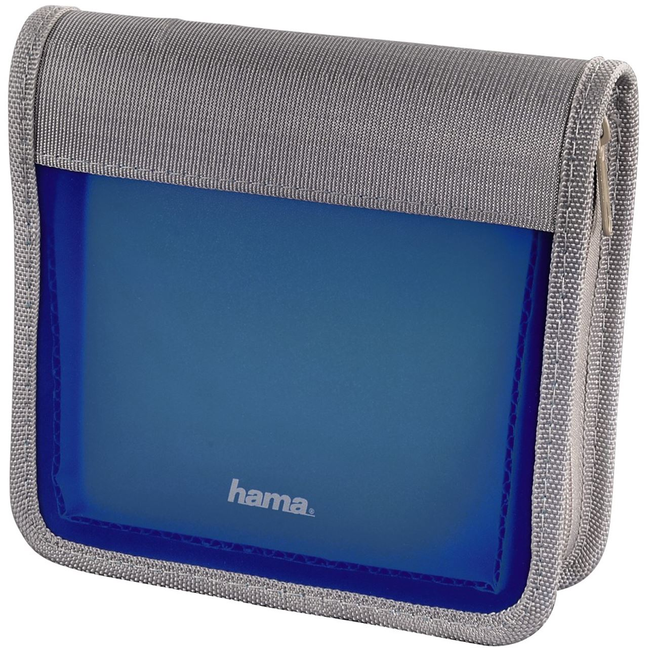 hama cd dvd blu ray wallet 28 blau silber tasche f r. Black Bedroom Furniture Sets. Home Design Ideas