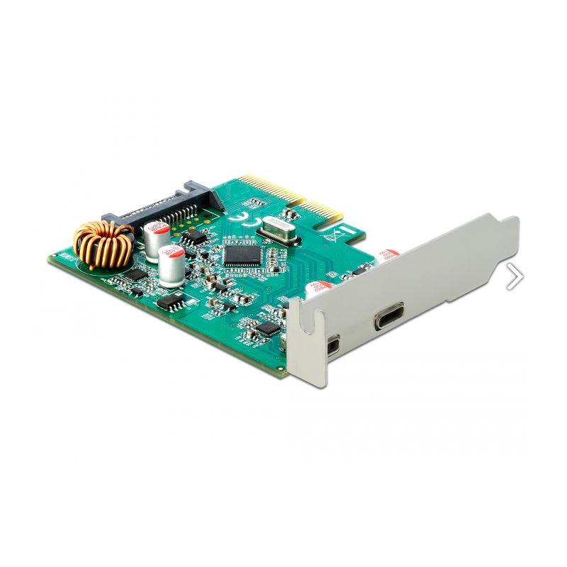 DeLock PCI Express x4 Karte  1 x extern USB Type-C Buchse 1 x extern USB 3.1 Gen 2 Typ-A Buchse