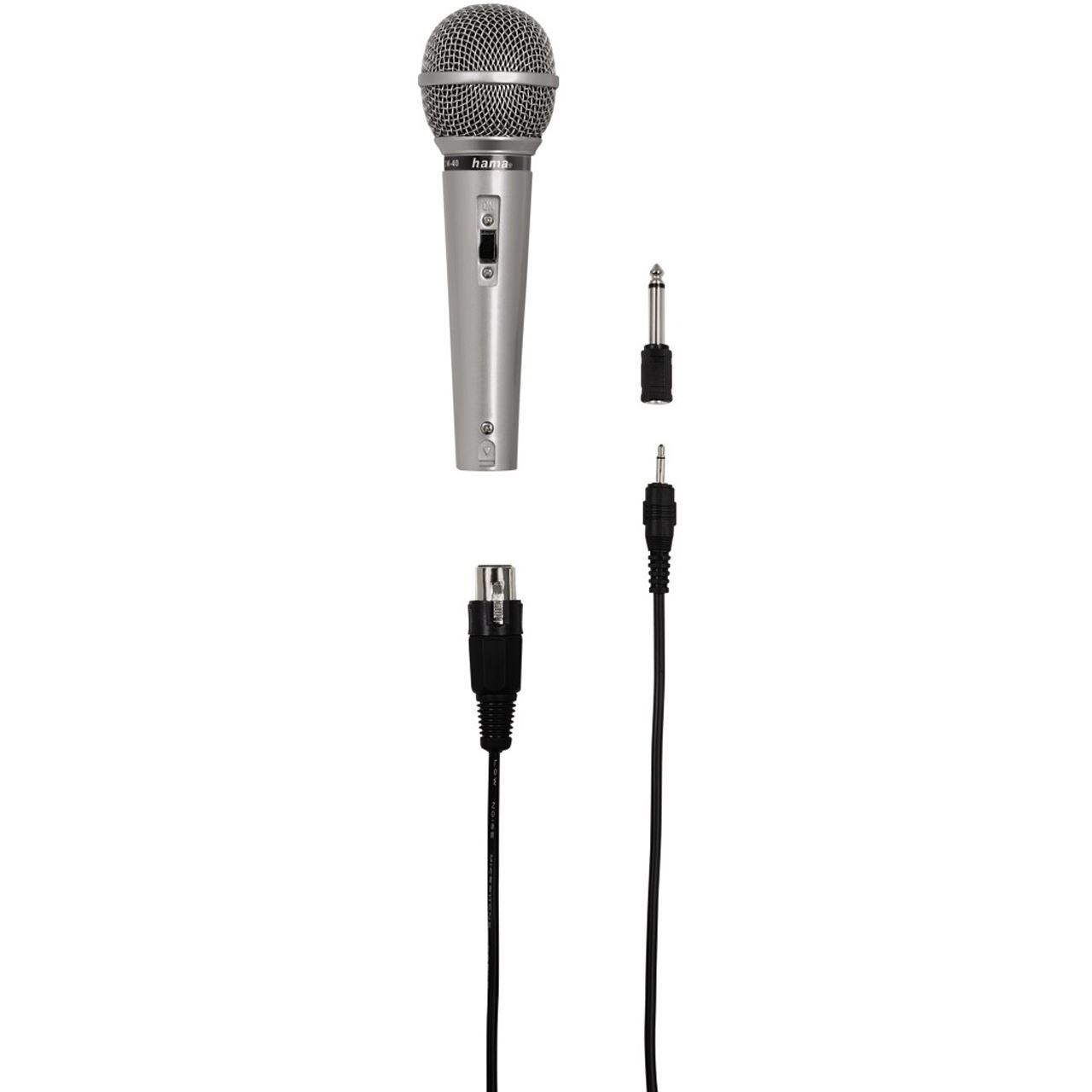 hama dm 40 3 5 mm klinke mikrofon mikrofone. Black Bedroom Furniture Sets. Home Design Ideas