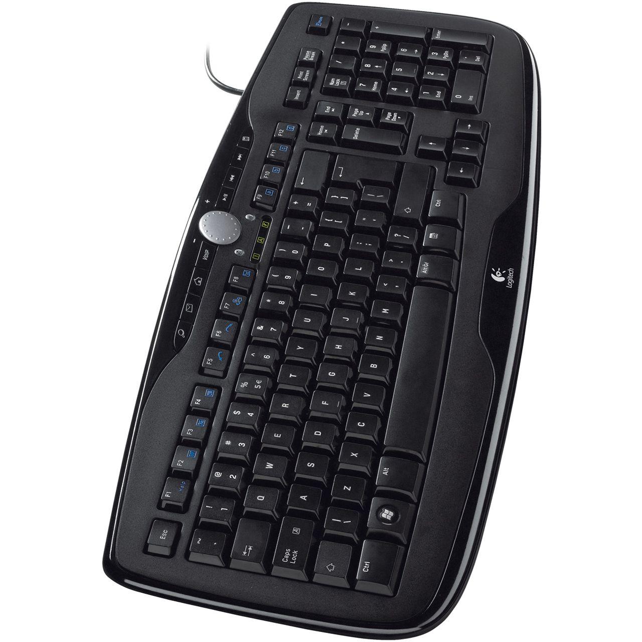 Logitech 600 Media Tastatur Schwarz Deutsch USB - Tastaturen ...