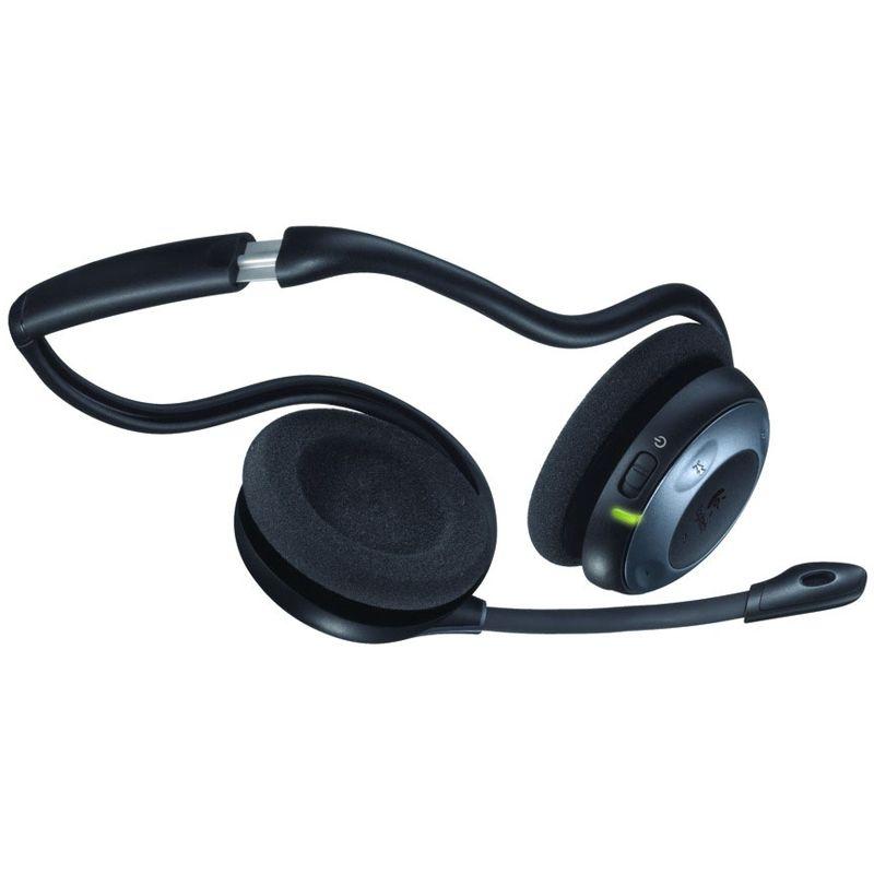 logitech headset h760 wireless schwarz silber headsets. Black Bedroom Furniture Sets. Home Design Ideas