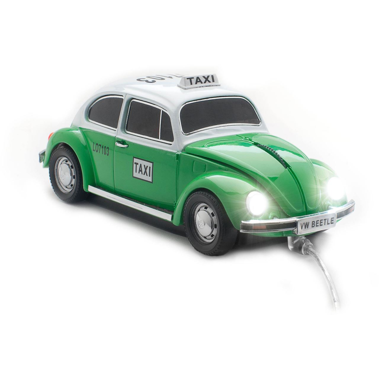 sunny trade car mouse vw beetle mexico taxi oldtimer usb gruen kabelgebunden. Black Bedroom Furniture Sets. Home Design Ideas