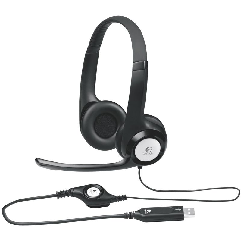 logitech usb headset h390 schwarz headsets kabelgebunden. Black Bedroom Furniture Sets. Home Design Ideas