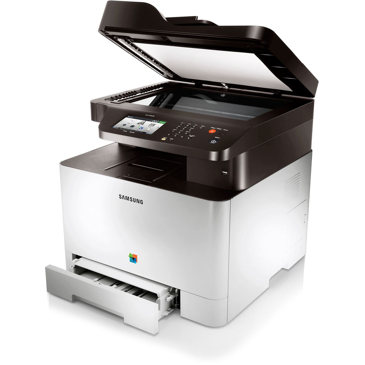 Samsung Clx 4195fnteg Farblaser Druckenscannenkopierenfaxen Lan