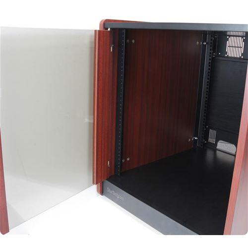StarTech 12HE Office Serverschrank mit Holzdekor und Rollen ...