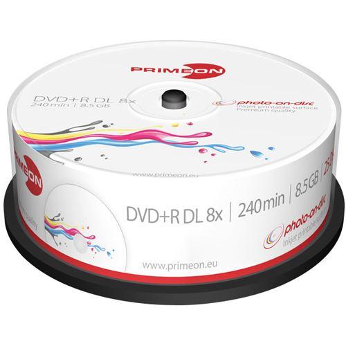 primeon dvd r dl 8 5 gb bedruckbar 25er spindel 2761252. Black Bedroom Furniture Sets. Home Design Ideas